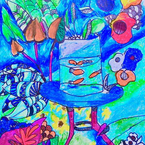 'The Goldfish'inspired by Matisse
