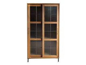 ハイキャビネット cadeal slide glass cabinet high