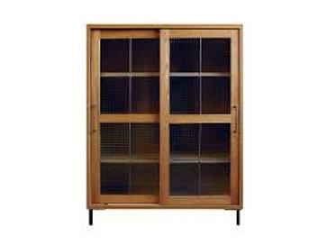 キャビネット cadeal slide glass cabinet low