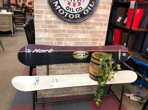 スノーボード板 リメイク背付きベンチ140