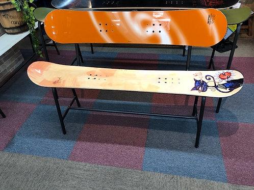 スノーボード板 リメイク背付きベンチ138