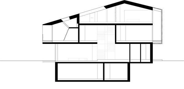 Atelier Querlaengs | Projekte | Architekten | Ziviltechniker | Salzburg | EFH Fritzer | schnitt laengs