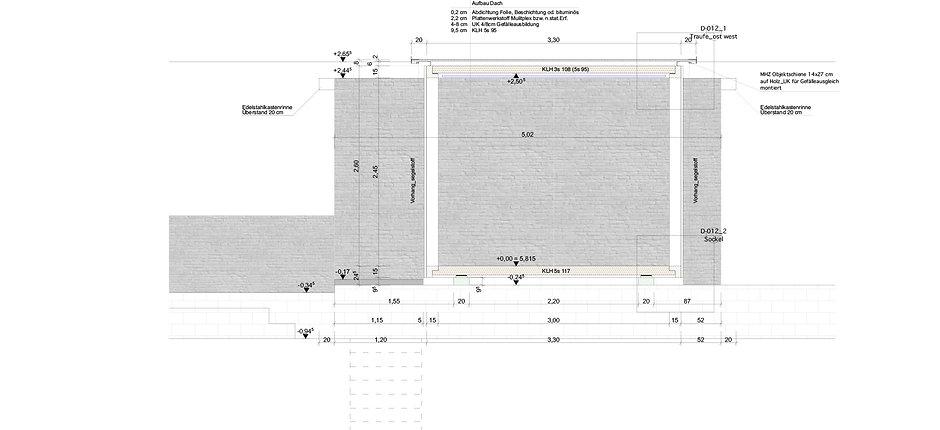Atelier Querlaengs | Projekte | Architekten | Ziviltechniker | Salzburg | Schlafhaus mit Wasser Heuberg | schnitt_1