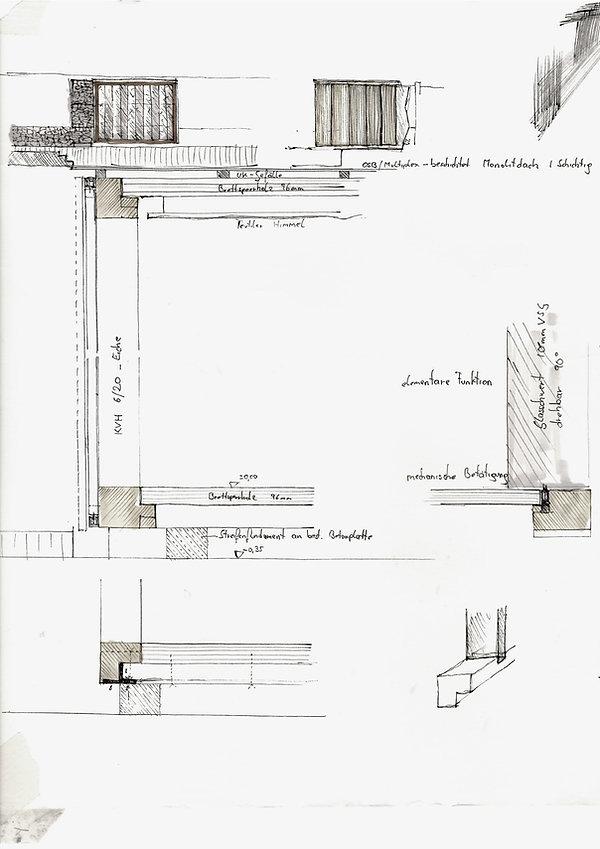 Atelier Querlaengs | Projekte | Architekten | Ziviltechniker | Salzburg | Schlafhaus mit Wasser Heuberg | skizzen