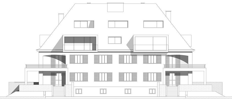 Atelier Querlaengs | Projekte | Architekten | Ziviltechniker | Salzburg | Dachausbau Erzabt Klotz Straße | ansicht_2
