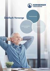 Grafikdesign | Folder Dreifach-Vorsorge | Nürnberger Versicherung AG Österreich