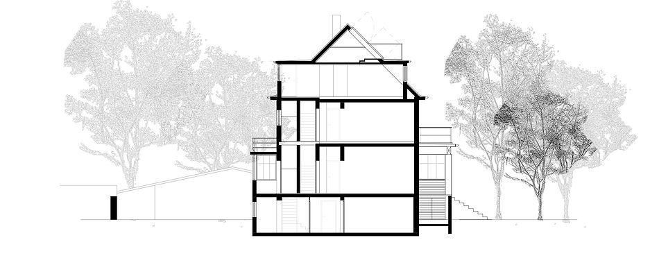 Atelier Querlaengs | Projekte | Architekten | Ziviltechniker | Salzburg | Umbau Rennstraße 13 | schnitt