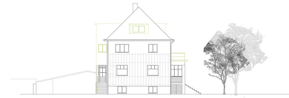 Atelier Querlaengs | Projekte | Architekten | Ziviltechniker | Salzburg | Umbau Rennstraße 13 | ansicht