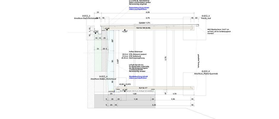 Atelier Querlaengs | Projekte | Architekten | Ziviltechniker | Salzburg | Schlafhaus mit Wasser Heuberg | schnitt_2