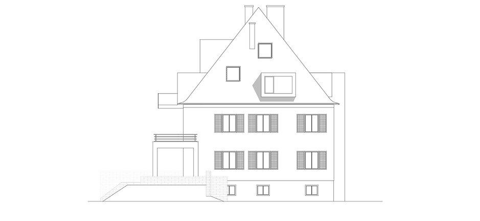 Atelier Querlaengs | Projekte | Architekten | Ziviltechniker | Salzburg | Dachausbau Erzabt Klotz Straße | ansicht_3
