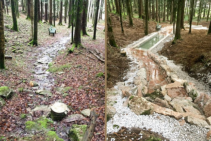 Fit & bewegt durch Adnets Marmorbrüche. Das bereits verwilderte Gsundheitsbründl wurde durch eine Kneippanlage erneuert. Der dazugehörige Pavillion lädt zum Verweilen und Relaxen ein. Erholung pur in frischer Waldesluft!