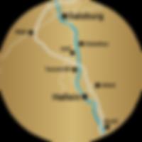 Anfahrtsradius HAAREXPRESS DOLINGA – Ihr mobiler Friseur in Rif, Hallein & Salzburg Umgebung