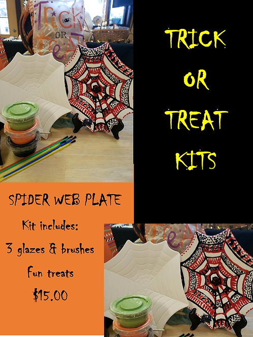 Halloween Kit - Spider Web Plate
