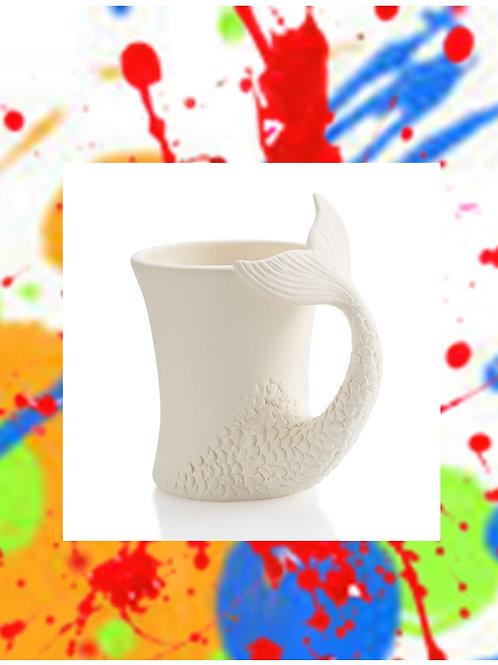 Mermaid Tail Mug 5'H x 3.25'D
