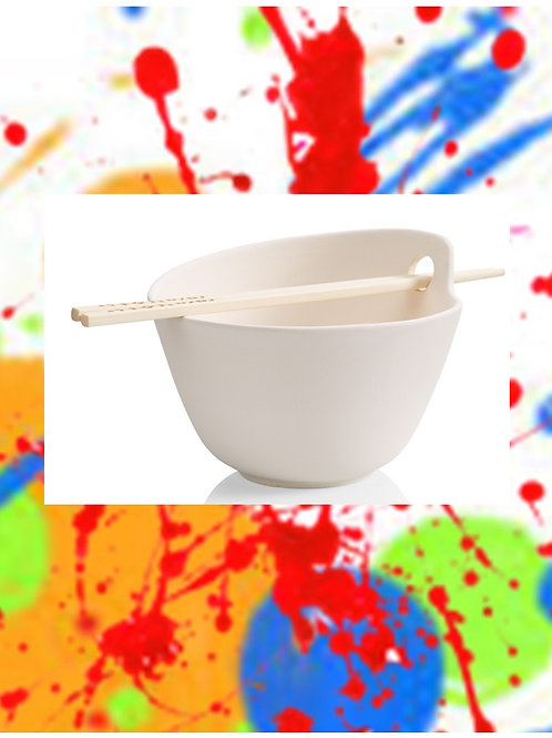Holey Bowly Sushi Bowl & Chops 5.75D x 3.25H