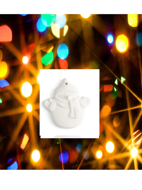Snuggles the Snowman Ornament (Flat)