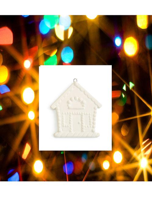 Gingerbread House Flat Ornament