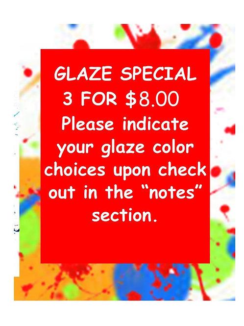 3 glazes