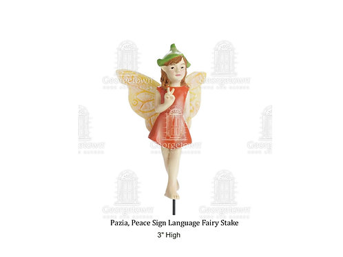 Fairy Pazia, Peace Sign Language Fairy Stake