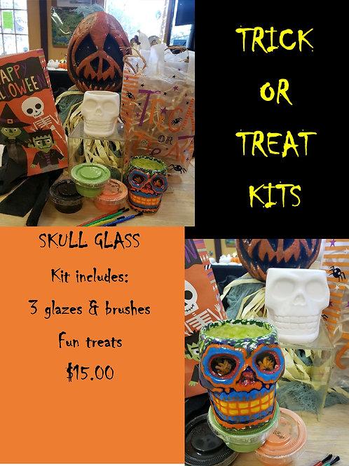 Halloween Kit - Skull Glass