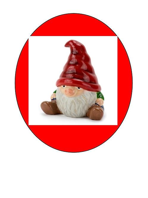 Garden Gnosey Gnome 6 1/2W x 7H