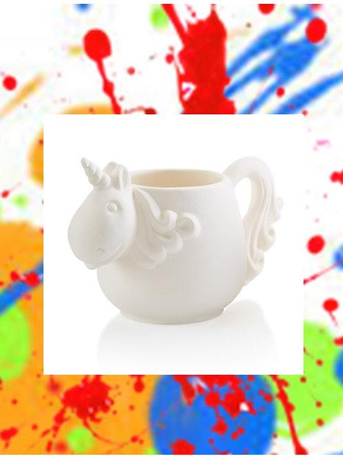 Unicorn Mug 3.5H x 3.5D X 7.25W