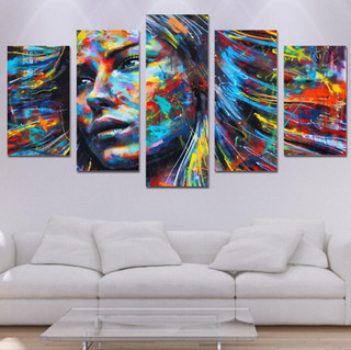 wall-art-canvas-painting-5-piece-HD-prin