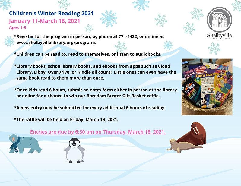 Winter Reading 2021 Children Program Inf