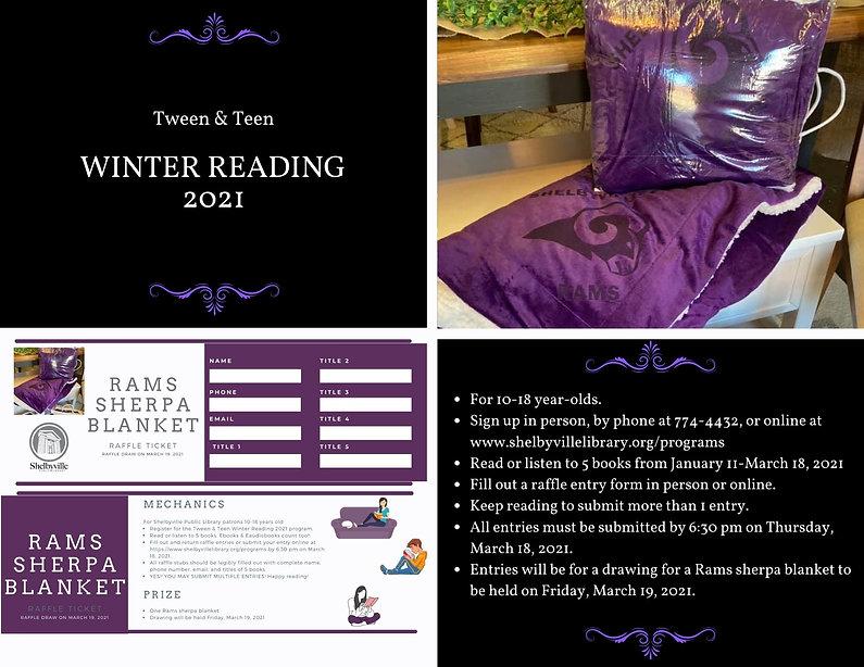 Tween & Teen Winter Reading 2021 Slider.