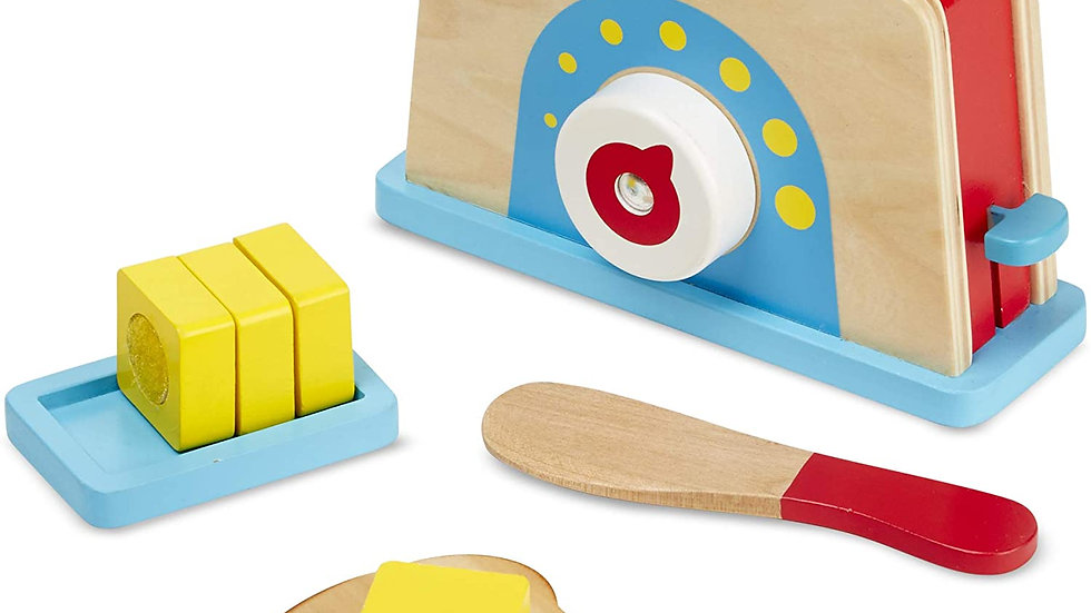 Melissa & Doug Bread and Butter Toaster Set (9 pcs)