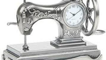Miniature Singer Sewing Machine Clock.