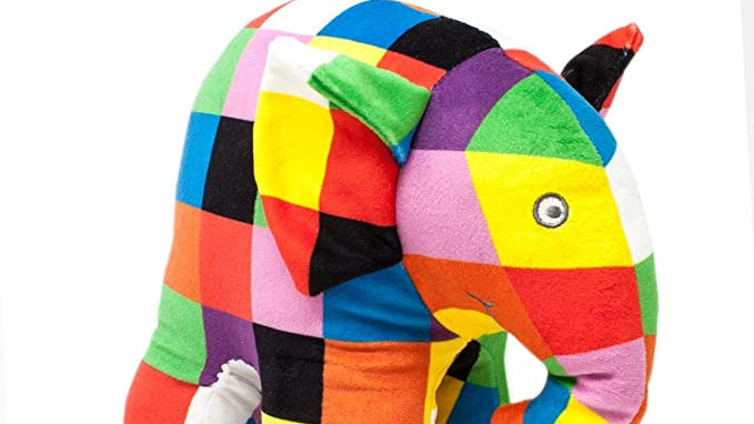 Elmer the Patchwork Elephant Plush Soft Toy - Rainbow Designs