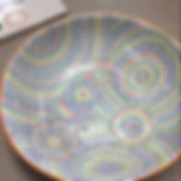 Painted plate at The Bent Brush Cape Coral