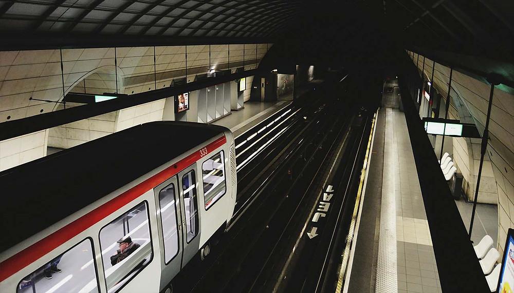 train at rail platform