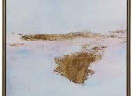 Pastel Moor Framed Gel Coat Canvas with Gold Foil
