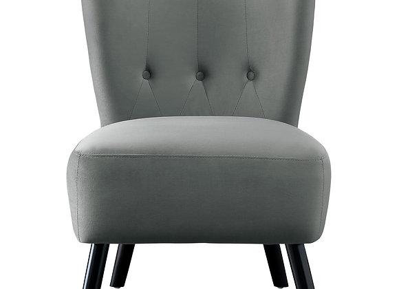 Velvet Accent Chair in Grey