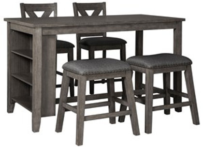 Caitbrook Counter Height Dining Room Set w 4 stools