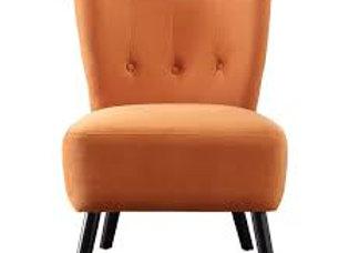 Orange Velvet Accent Chair