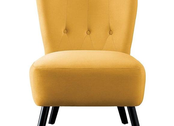 Accent Chair Yellow Velvet