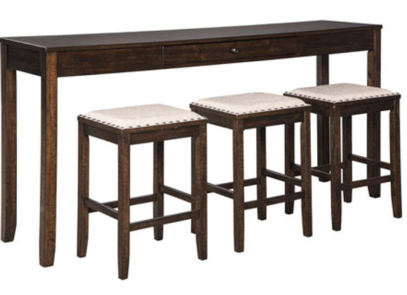 Rokane Counter Table Set (Includes 3 Stools)