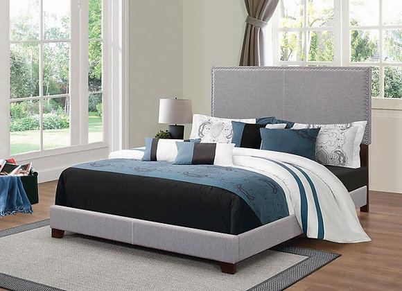 Boyd Queen Upholstered Bed in Grey