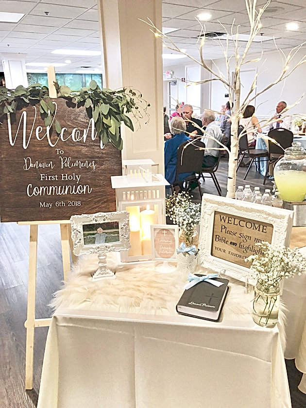 Rustic First Communion Little Miss Party Planner Events And Design