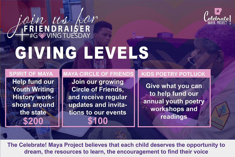 Friendraiser and Giving Tuesday LEVELS-1
