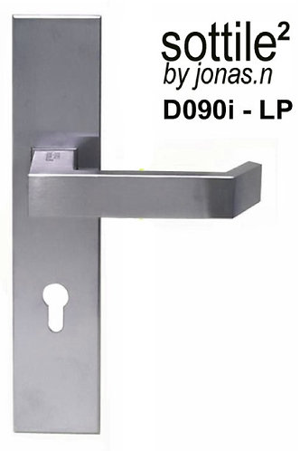 Lever Handle on Plate Stainless Steel D090i-LP 72mm SN 1343