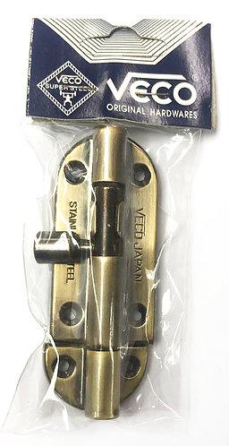 """V Barrel Bolt Original Hardwares WL32 3"""" AB 0331"""