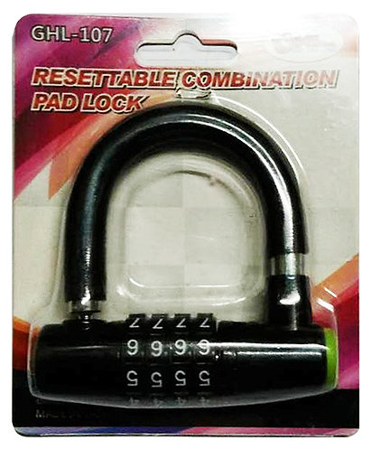 Resettable Combination PadLock GHL-107 45 x 45mm BK 0107