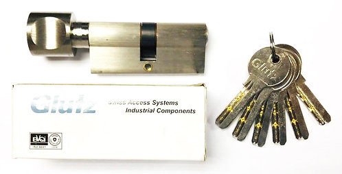 Thumbturn Cylinder with Computer Key 180541 70mm SS 1122