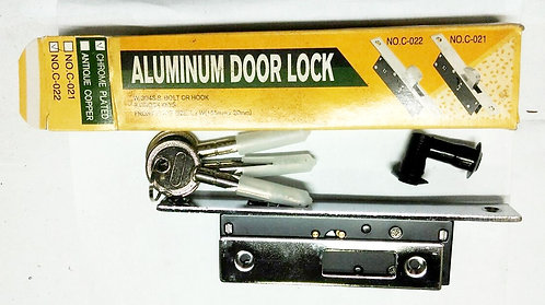 Aluminium Door Lock C-022 155mm x 20mm SN 1110