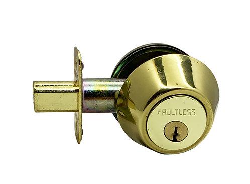F Dead Bolt Locks Single Cylinder D271 PB 0351