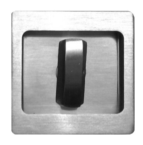 Sliding Recess Handle Square Thumbturn Knob CDK-63-2 SS 0139